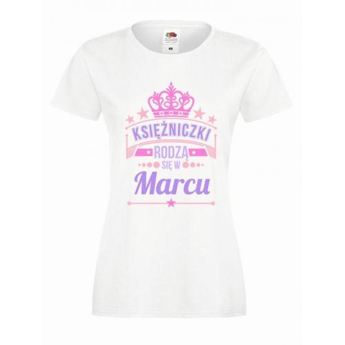 T-shirt lady slim DTG KSIĘŻNICZKI MARCU