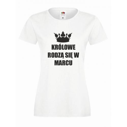 T-shirt lady KRÓLOWE MARZEC
