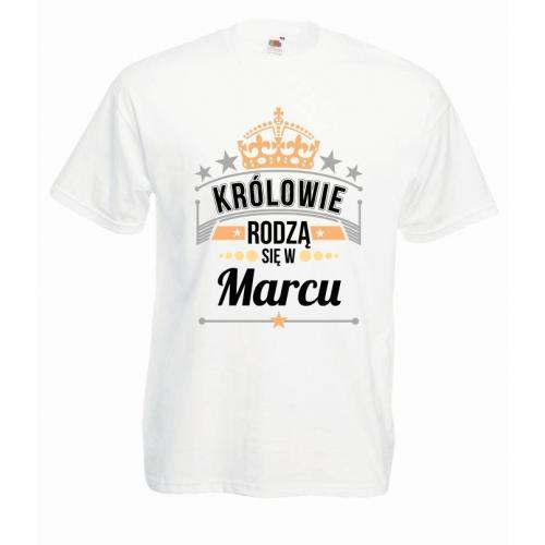 T-shirt oversize DTG KRÓLOWIE MARZEC