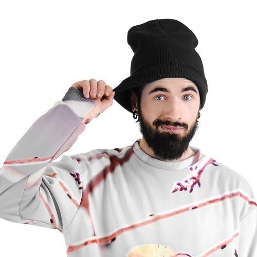 mężczyzna czapka krasnal czarna