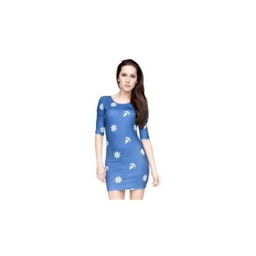 sukienka druk marine blue ( OUTLET)
