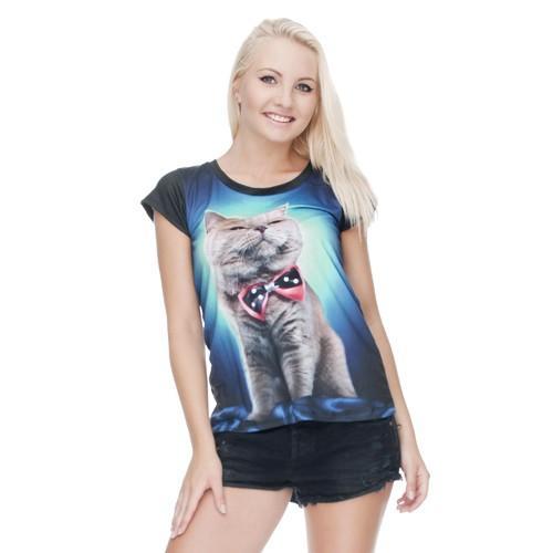 T-shirt woman druk GALAXY PANDA AND CAT