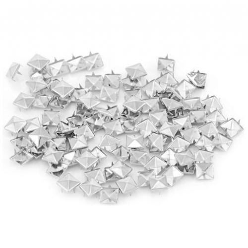 ĆWIEKI-DIY kwadratowe srebrne 100 szt