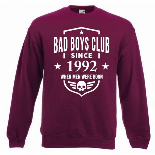 bluza oversize BBC SINCE burgund - przód