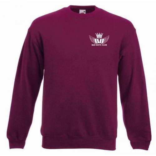 bluza oversize BBC WINGS burgund - przód