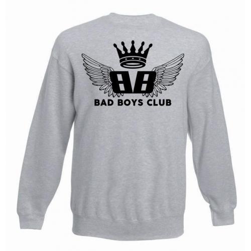 bluza oversize BBC WINGS szara - tył