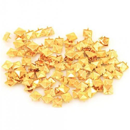 ĆWIEKI-DIY kwadratowe złote 100 szt