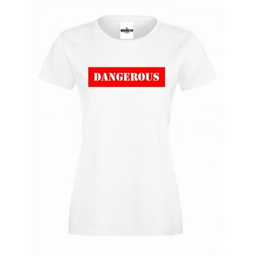 T-shirt lady slim DTG DANGEROUS RED