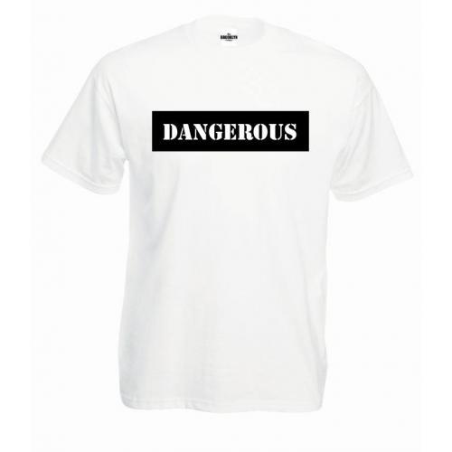 T-shirt oversize DTG DANGEROUS BLACK