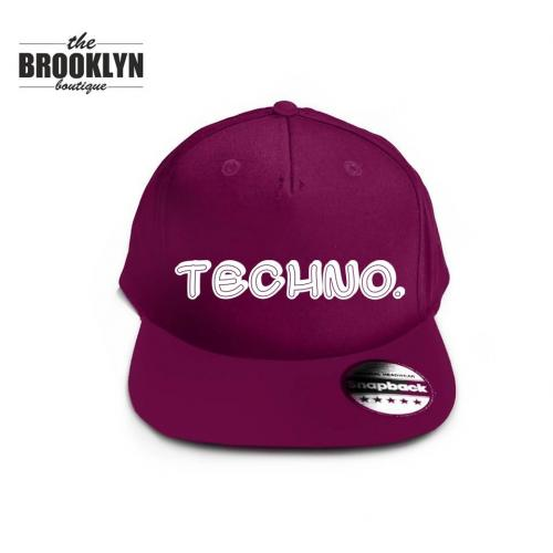 Czapka snapback cap TECHNO