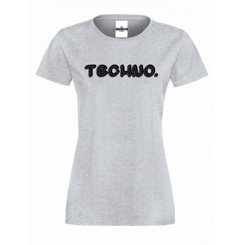 T-shirt lady TECHNO
