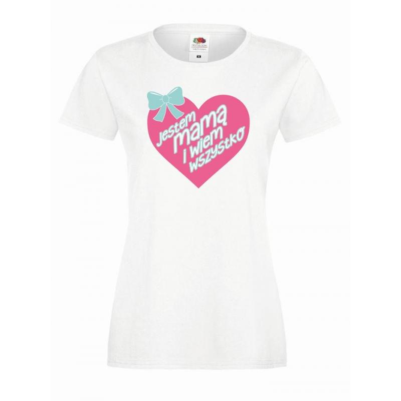 T-shirt lady DTG WIEM WSZYSTKO