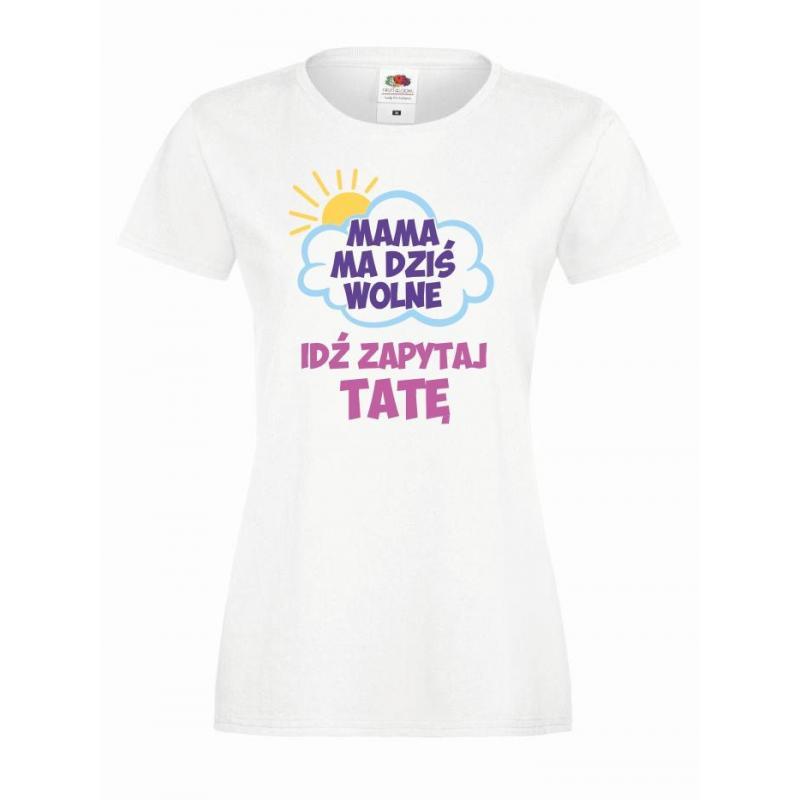 T-shirt lady DTG MAMA MA WOLNE