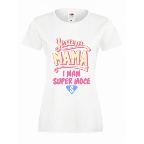 T-shirt lady slim DTG JESTEM MAMĄ