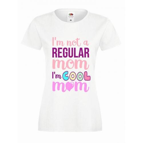 T-shirt lady slim DTG COOL MOM