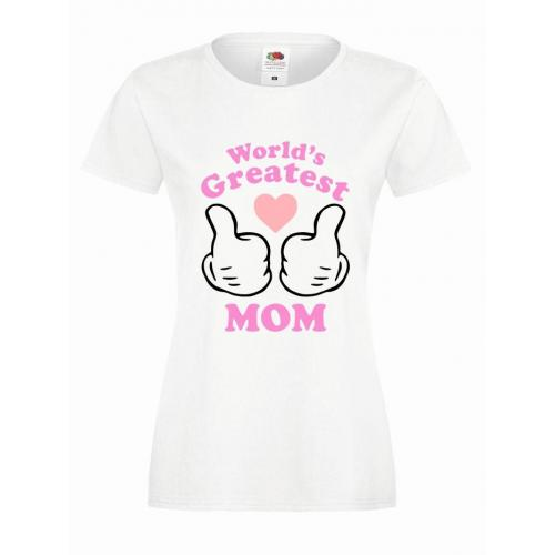 T-shirt lady slim DTG GREATEST MOM