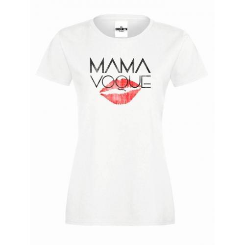 T-shirt lady slim DTG MAMA KISS