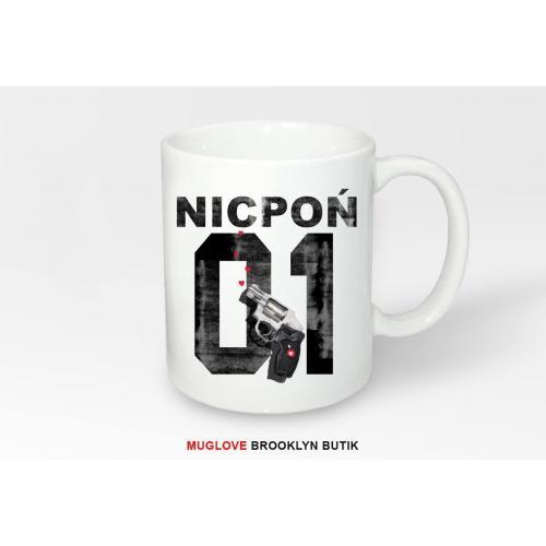 Kubek z nadrukiem Nicpoń 01 Gun
