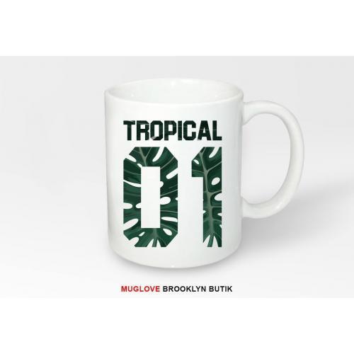 Kubek z nadrukiem Tropical 01 Monstera