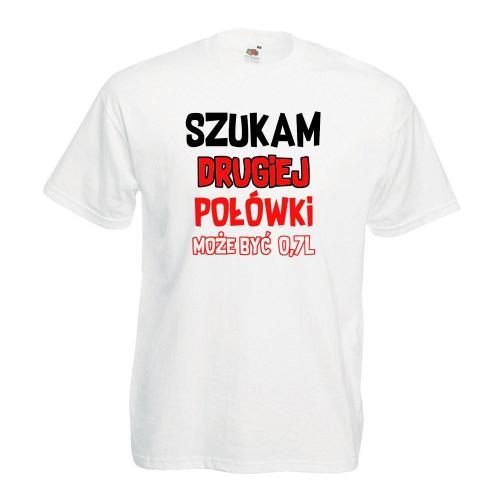 T-shirt lady/oversize DTG SZUKAM DRUGIEJ POŁÓWKI