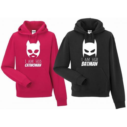 bluza z kapturem dla par Catwoman & Batman
