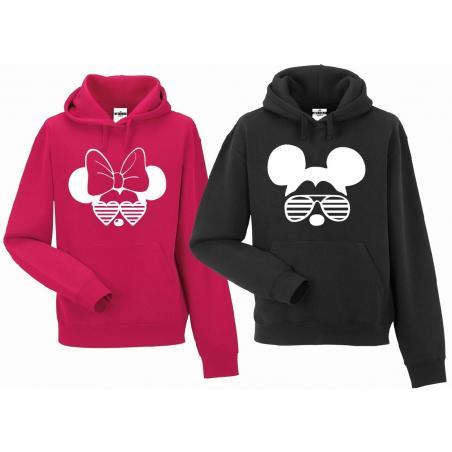 bluza z kapturem dla par Minnie & Mickey Sunglasses