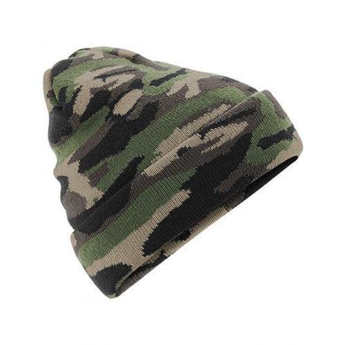 czapka POMPON PASKI /granatowy+czerwony/
