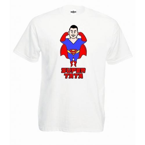 T-shirt oversize Super Tata moc