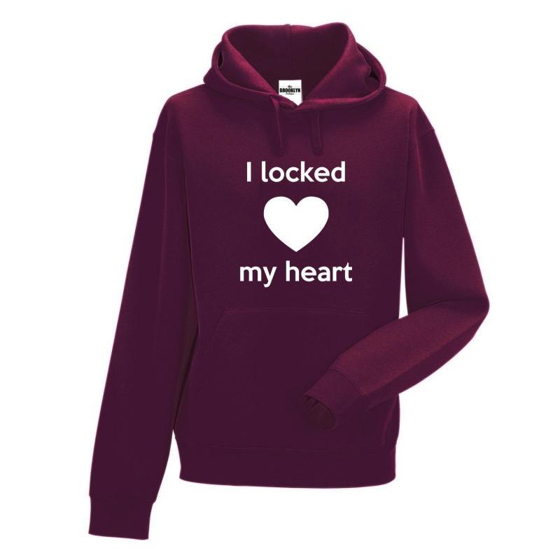 bluza z kapturem locked my heart OUTLET