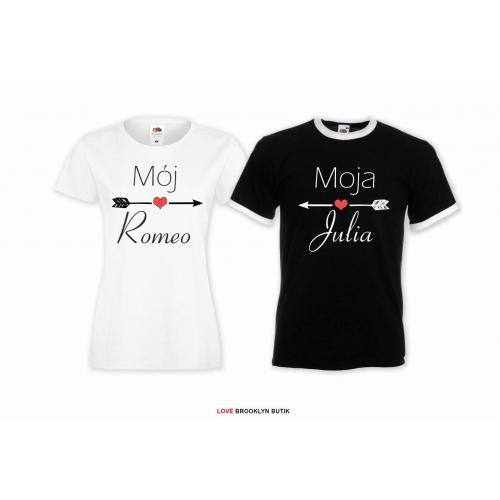 T-shirt dla par Julia&Romeo lady/oversize 2 szt