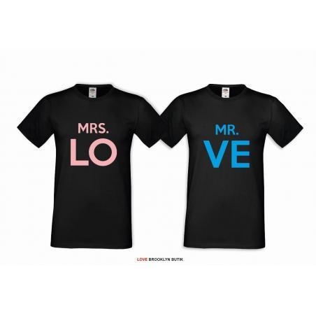 T-shirt DLA PAR 2 SZT MRS. LO & MR. FOUND COLOR