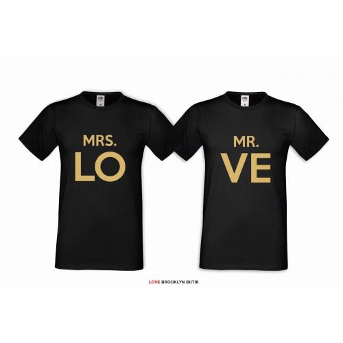 T-shirt DLA PAR 2 SZT MRS. LO & MR. FOUND COLOR