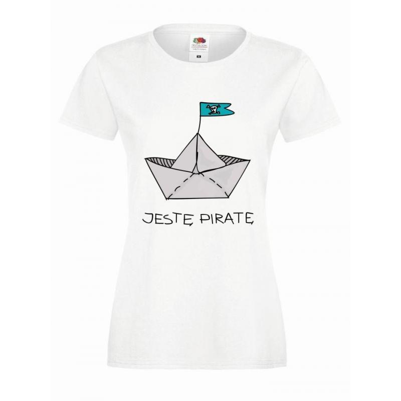 T-shirt lady slim DTG pirat