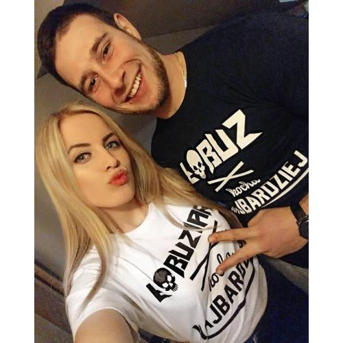T-shirt DLA PAR 2 SZT- ŁOBUZ fuksja ,niebieski