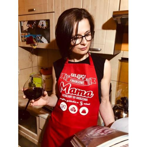 Fartuch usługi finansowe mama