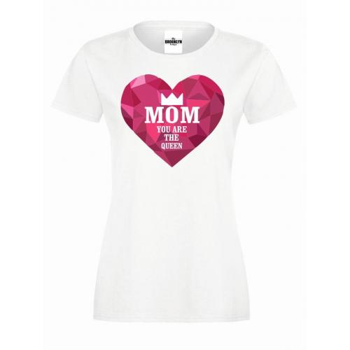 T-shirt lady slim MOM QUEEN