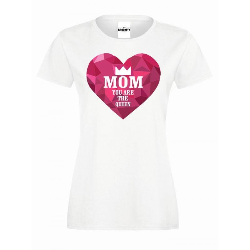 T-shirt lady slim MOM QUEEN