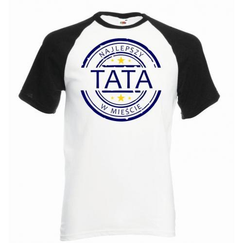 T-shirt baseball kolor najlepszy w mieście