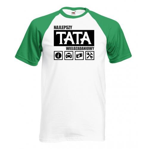 T-shirt baseball kolor tata wielozadaniowy