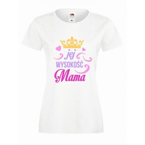 T-shirt lady slim DTG JEJ WYSOKOŚĆ MAMA
