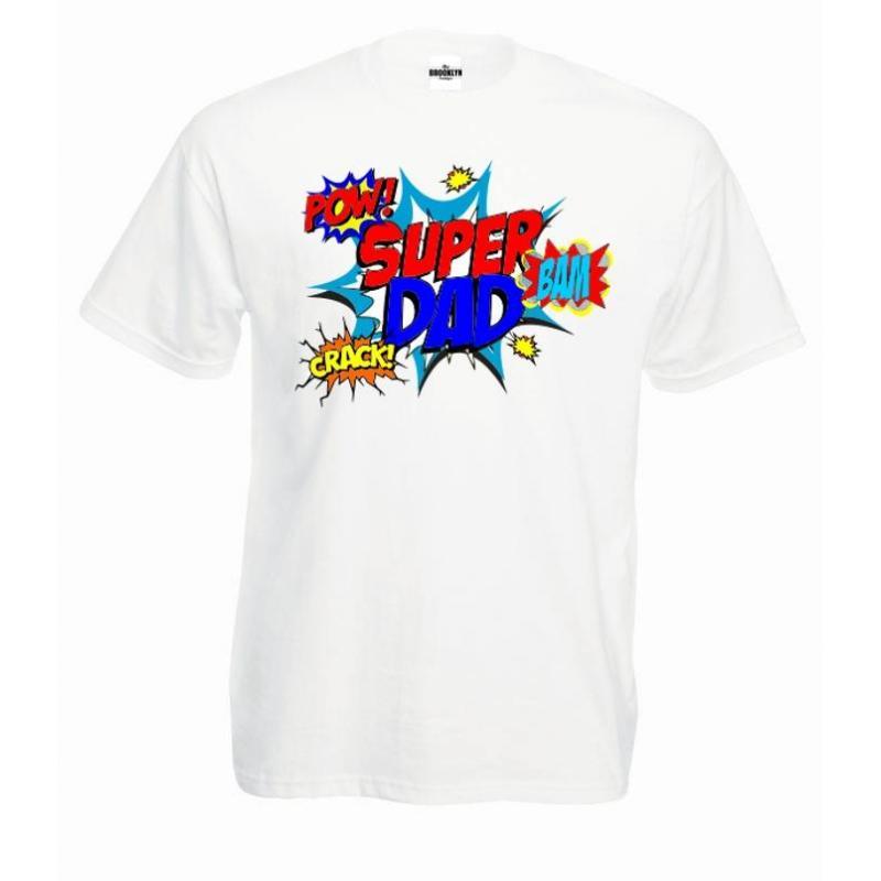 T-shirt oversize DTG super dad pow