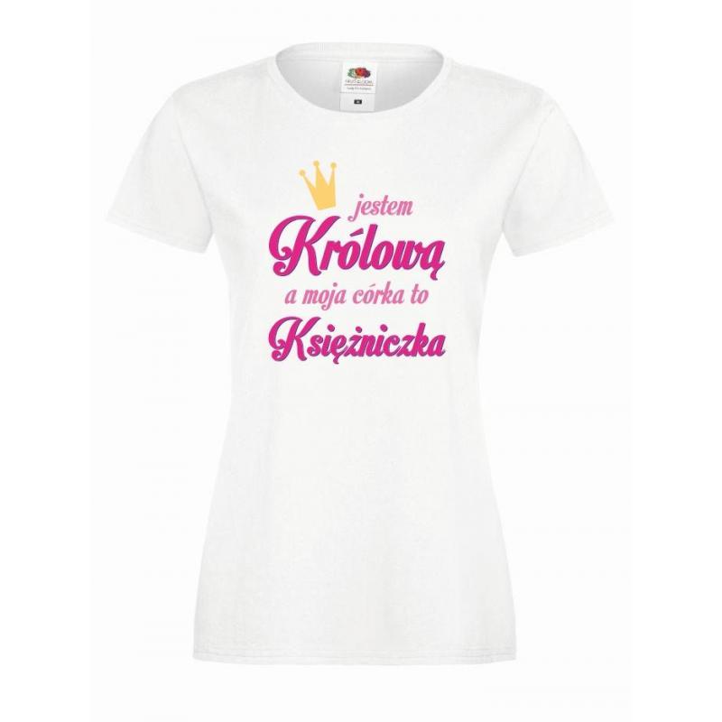 T-shirt lady DTG KRÓLOWA & KSIEZNICZKA