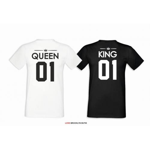 T-shirt DLA PAR 2 SZT QUEEN & KING