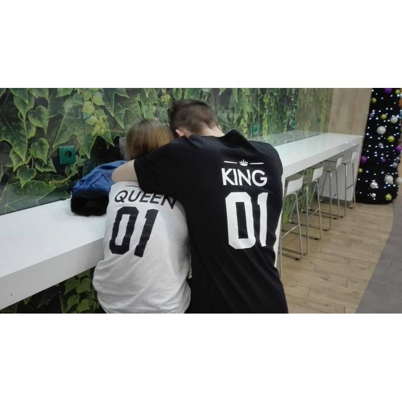 T-shirt DLA PAR 2 SZT QUEEN & KING