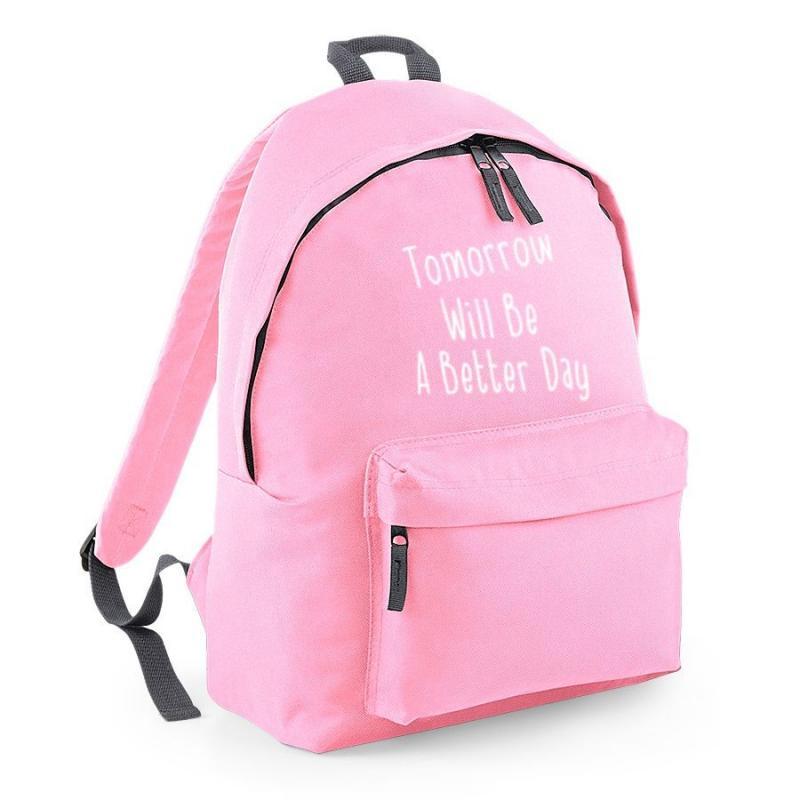 plecak szkolny tomorrow will be a better day jasno różowy