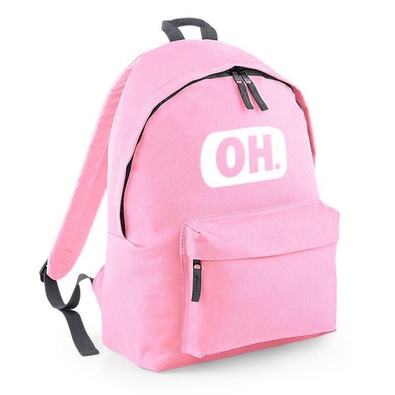 plecak BG owal OH jasno różowy