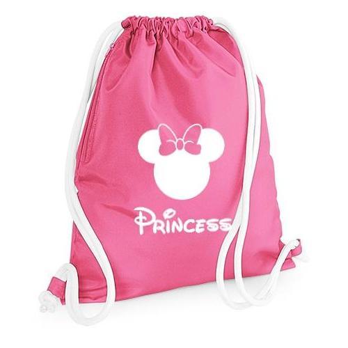 plecak worek PRINCESS MIKI różowy z białymi sznurkami