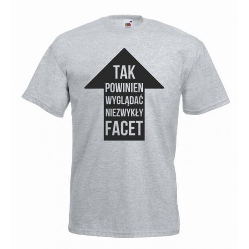 t-shirt niezwykły facet