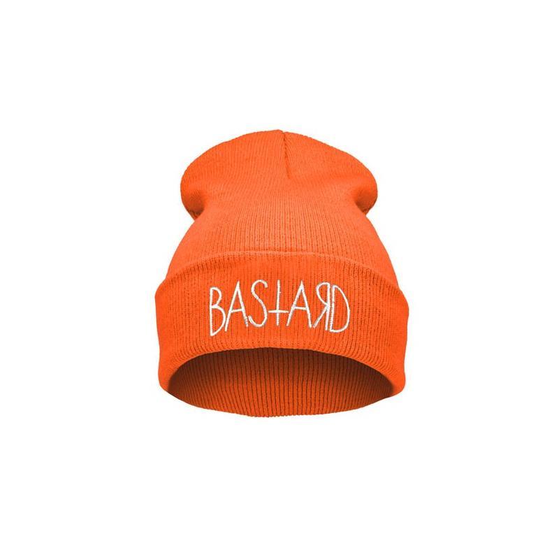 Czapka Krasnal naszywka BASTARD orange