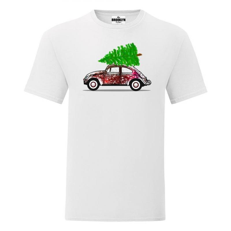 T-shirt oversize DTG Świąteczne autko